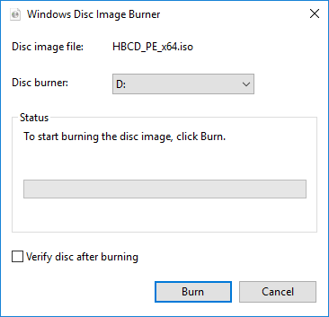HBCD PE - Windows Disc Image Burner